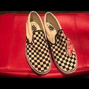 Classic Checkerboard Vans Slip on sneakers